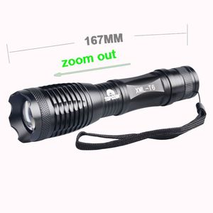 Portable Emergency Waterproof LED Light 3000 Lumens T6 XML Aluminum Zoom 10W LED Police Tactical Flashlight