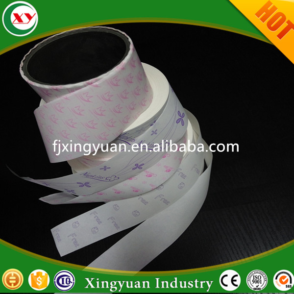 Raw material silicone released paper for female sanitary napkin making