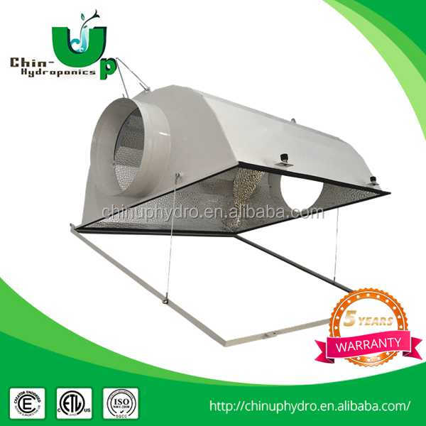 2016 hight quality DE double ended aluminium air cooled reflector for hydroponics/RAINBOW