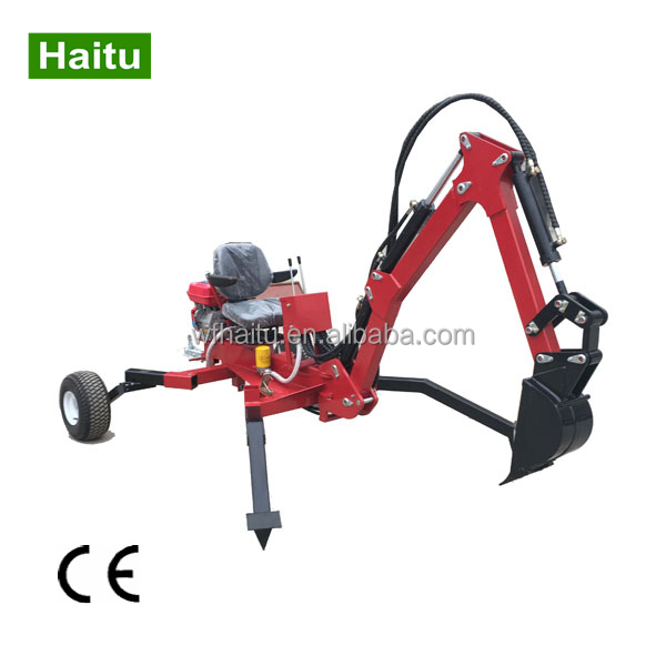 ATV mini backhoe towable