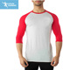 3 4 raglan sleeve shirt Baseball fitness sweatshirt
