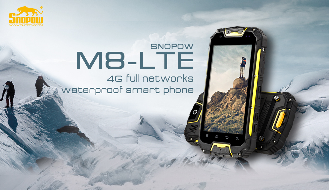 Snopow new arrival M8 lte Octa core MTK 6753 3G RAM 32G ROM IP68 waterproof military phone