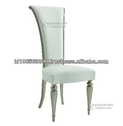 Luxury High Back Chair With Silver Leaf Bj Nes20 Neoclic Product On Alibaba