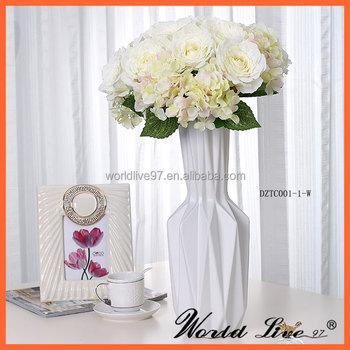 China Supplier White Ceramic Flower Vases For Home Decor For Wedding