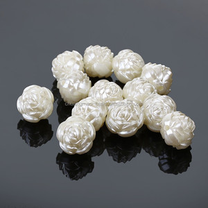 Rose shaped abs pearl beads for jewelry making