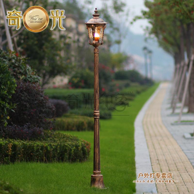 aluminum glass classical outdoor lamp post garden lights focos led v exterior park road lighting luces