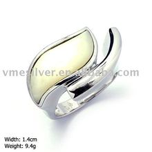 925 SILVER JEWELRY, SILVER RING WITH MOP (RMH-0925)