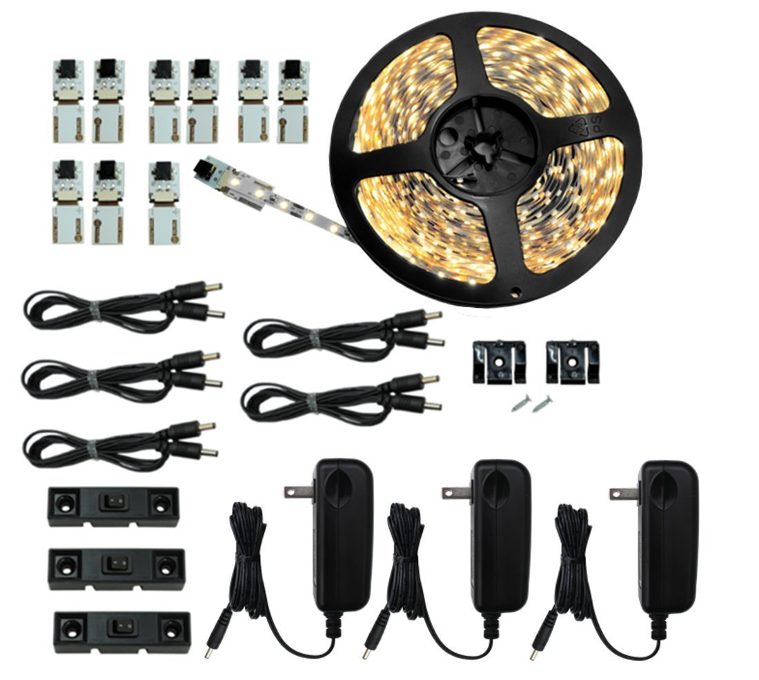 Inspired LED - Light Strip - Cut and Connect Kit - Super Bright Pure White 4200K - 39.5 ft / 12M - Strip Lighting LED - Dimmable led