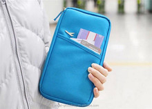 2017 Cheap wholesale korean waterproof 600D travel document wallet/ passport holder