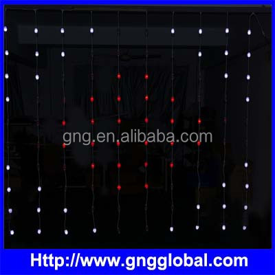 Crystal shell rgb pixel string digital led curtain light