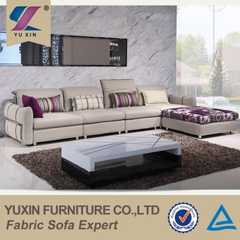 Modern Furniture Design High End Fabric Sectional Sofa Corner Set