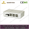 6 port security sensor alarm system host for mobile tablet with charging
