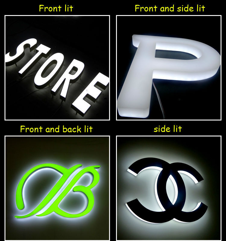 NEW! 0 7m high front lit acrylic stainless steel letters fabric acrylic  sign big led letter signs, View acrylic stainless steel made in China front