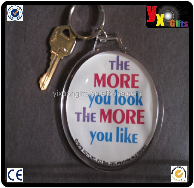 "1979 The More You Vintage original 3"" button photo key chain Retro Funny Slogans/heart shaped radio"