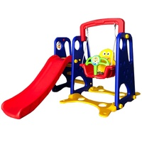 Portable Plastic Kids Swing And Slide Set with basketball stand
