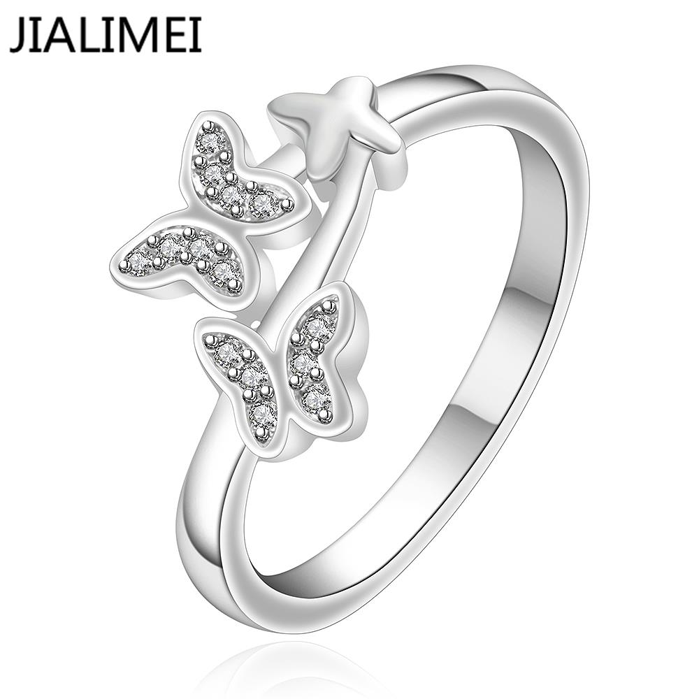 Free Shipping 925 Silver Ring Fashion Sterling Silver Jewelry factory price Chirstmas gift Inlaid Stone Belt
