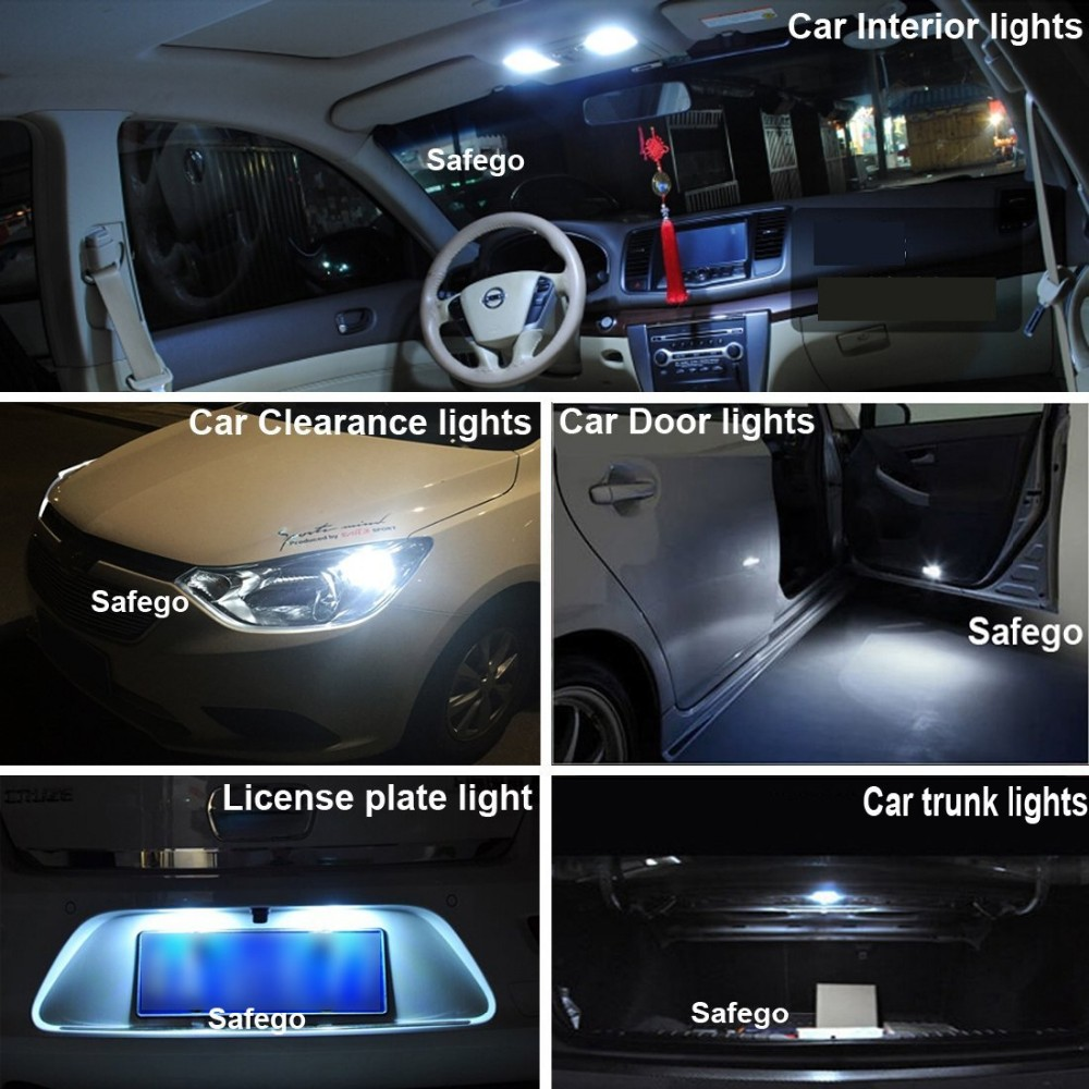 T10 Canbus LED White Car Light Bulbs T10 w5w 5 SMD 5050 Super Bright 194 168 2825 Wedge LED Car Lights Source Replacement Bulbs