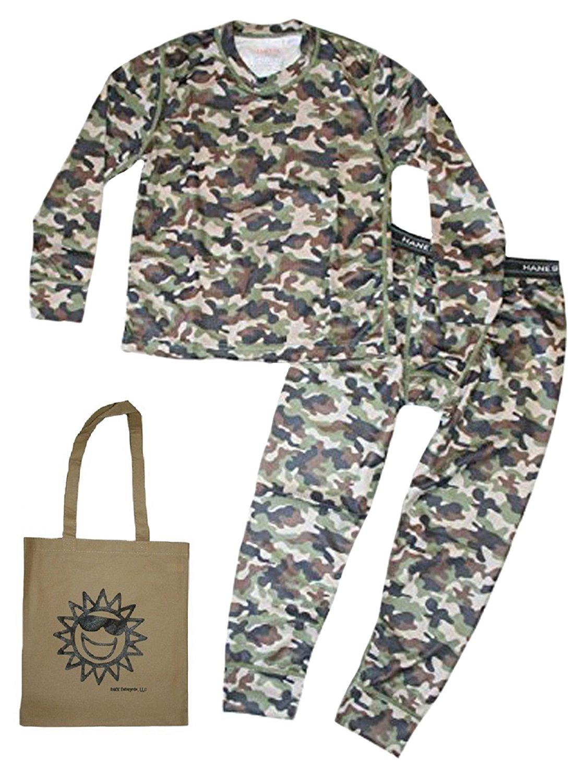 Hanes X-Temp Little Boys' 2 Piece Thermal Underwear & Tote Gift Set
