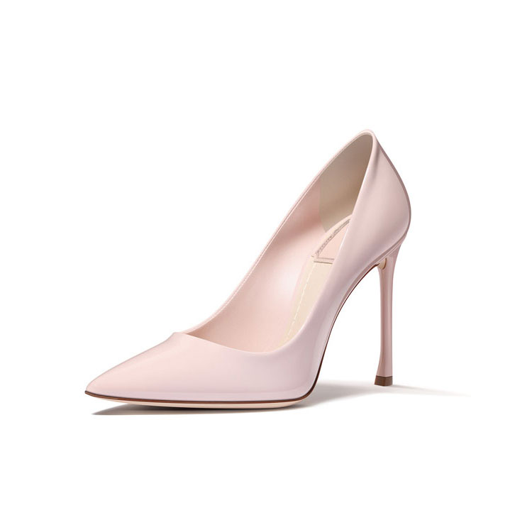 pink patent leather party wear high heels shoes women with10cm heel