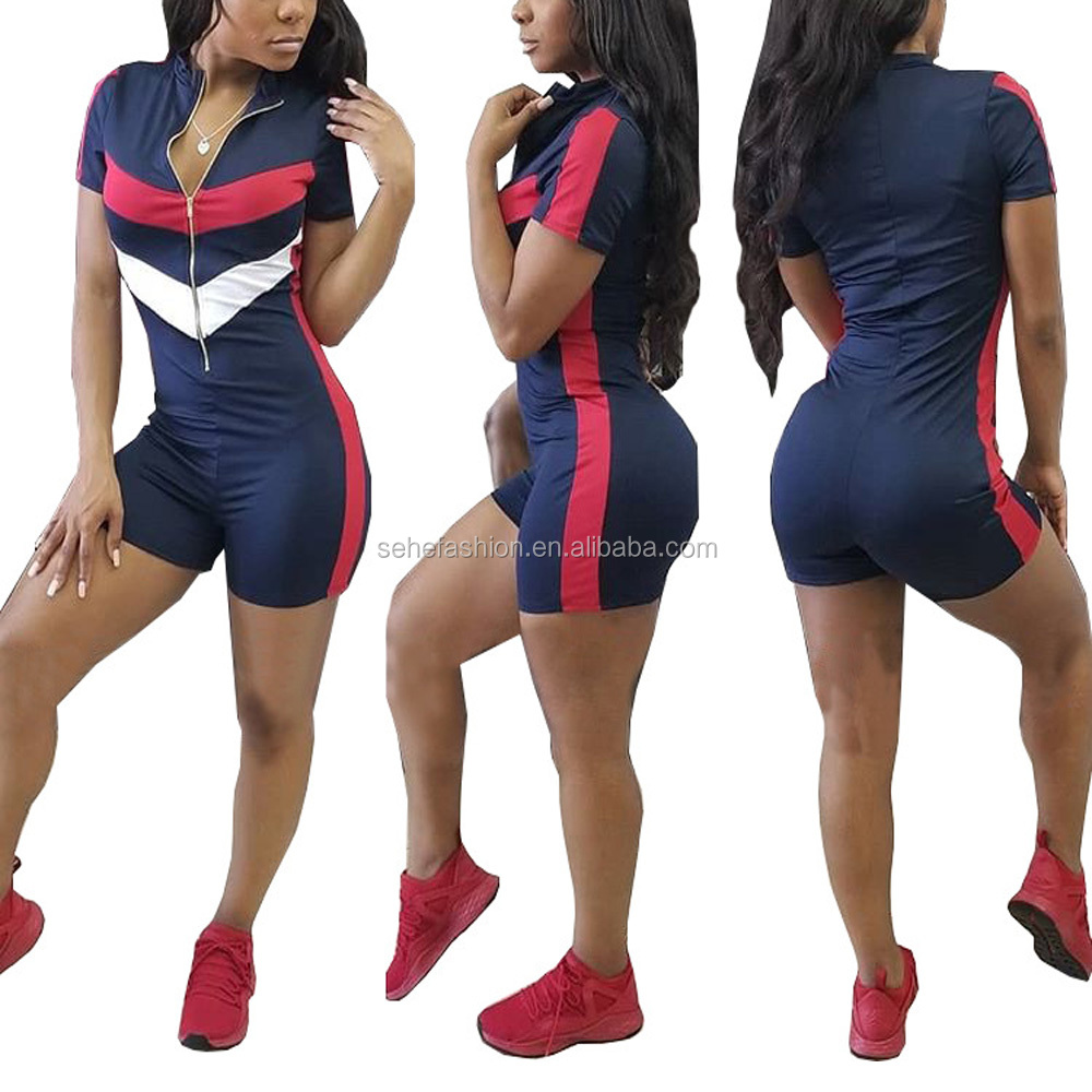 80409-MX97 Wholesale high quality sexy sport style tight jumpsuit high elastic fabric jumpsuit for women фото