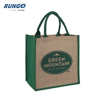 Cheap printed eco-friendly promotional jute gift bag