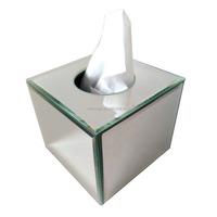 funny square glass mirror tissue box