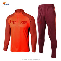 New season football long Tracksuit Orange color sports training soccer swaersport tracksuit