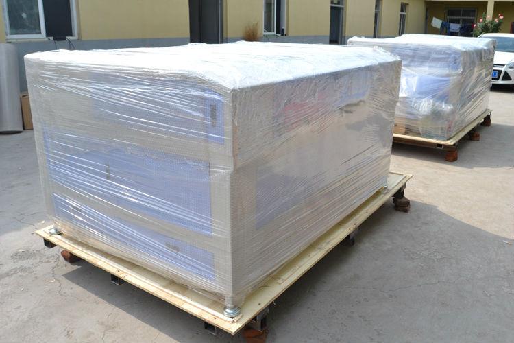 Double Heads 80w Co2 Fabric cnc Laser Cutting Machine Price