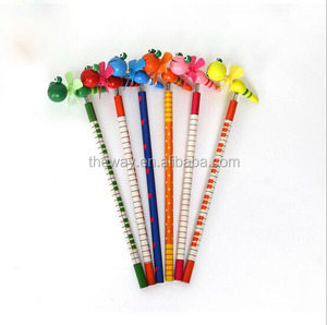 Colorful Wood Pencil With Bee Animal design on Spring Great Pencil For kids