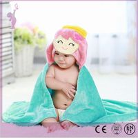 2016 Alibaba wholesale soft baby hooded towel set kids cartoon bath towel