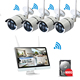 2mp wifi wireless cctv security system 4ch IP Camera NVR kit