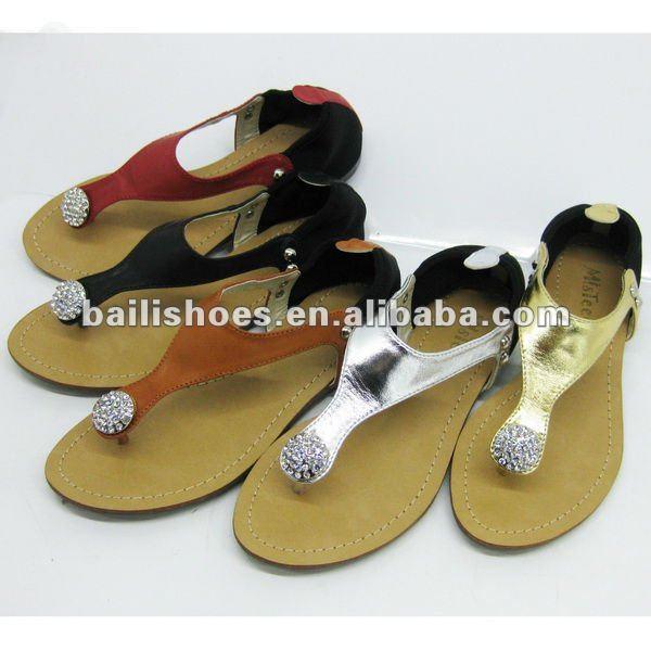 Flat Ladies Shoes Many Colours Diamond Hot-sale Elasticity New ...