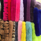 Colorful rex rabbit fur skin scrap for shoes, hat, garment