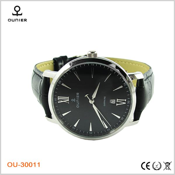 Sale Off! Dark Color Fashion Classic Chic Quarzt Watch Leather Belts