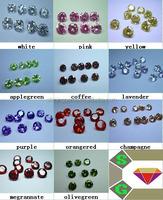 2015 new fashion round colorful buyers of semi precious cz stones