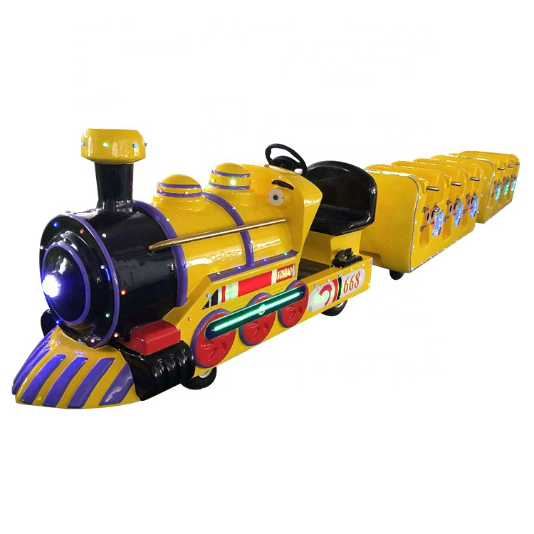 Custom made amusement park road rides electric trackless train