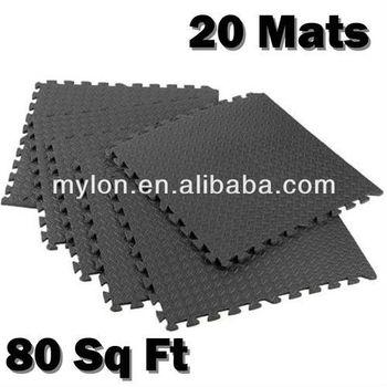 80 Sq Ft High Quality Black Interlocking Jigsaw Floor Eva Foam Mats Playground Gym Yoga Exercise