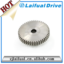 spur shape stainless steel, aluminum, copper, steel, cast iron material gear