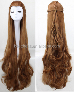 Hobbit Lord Rings Legolas Sutherland Deere Elven Prince Cosplay Wigs Light Brown