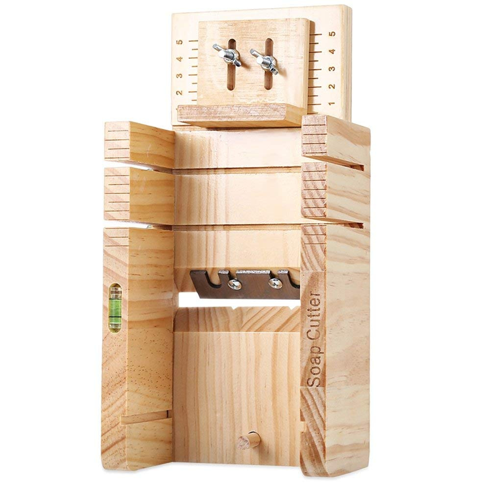 Household Wooden Soap Mold Cutter Box Handmaded Soap Making Bar Loaf Supplies Balancing Apparatus Accurate Wire Cutting Adjustable Front Board Pine Material