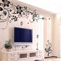Customized High Quality Removable Vinyl Wall Sticker Mural Decal Art - Flowers