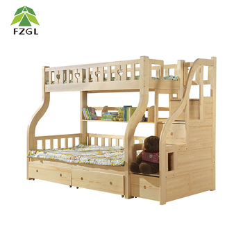 Wooden Bunk Bed With Drawers Cartoon Bunk Bed For Children Good