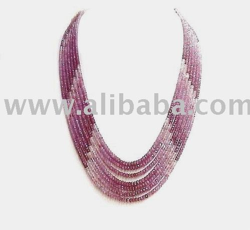 ruby shaded beads