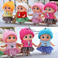 2Pcs Set Kids Toys Baby Dolls Interactive Confused Doll Soft Phone Pendant Toys Mini Doll For