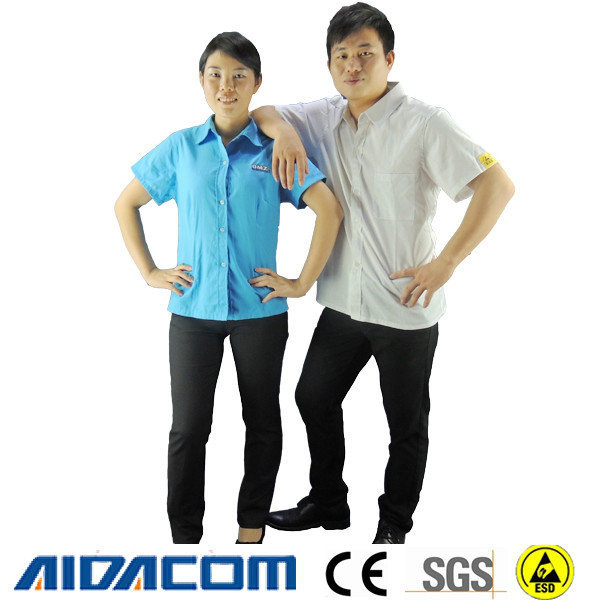 New design- Jacket type ,Shorter sleeves antistatic cotton smock
