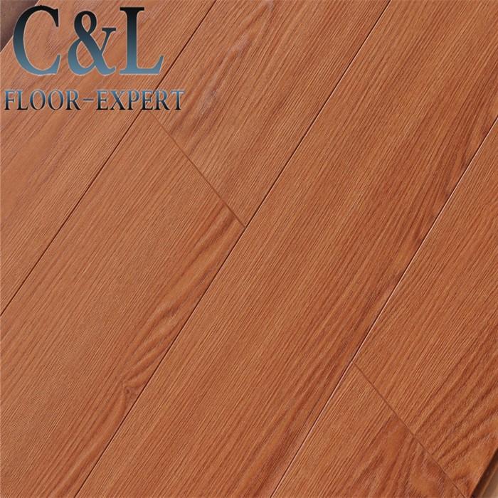 Laminate Wood Flooring Durability: 8mm Wood Grain Design Durable Hdf Laminate Flooring