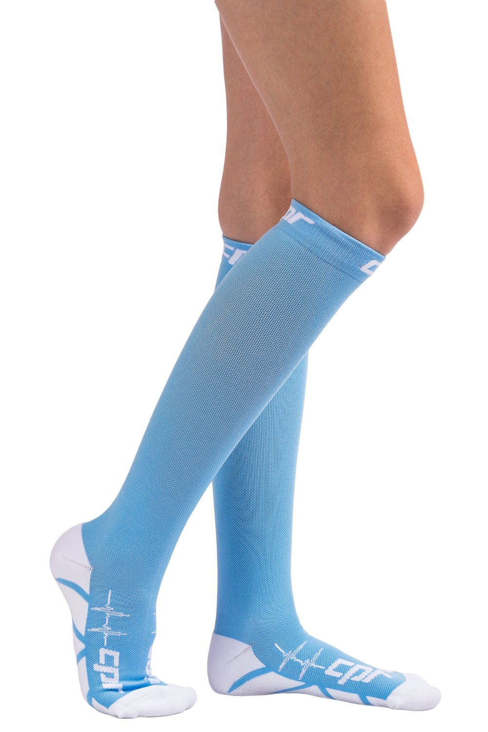 87923dc1c9 Get Quotations · CPR Compression Socks for Women and Men Nurses Compression  Socks Graduated Compression 20-30 MMHG
