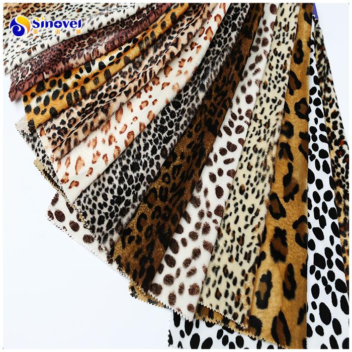 Animal printed velboa fabric, velvet furniture fabrics for velvet fabric pillows