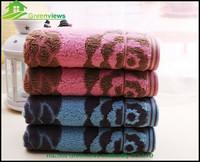 Velvet cotton hand towel jacquard weave flower design 34X78cm towel,wedding souvenirs towel