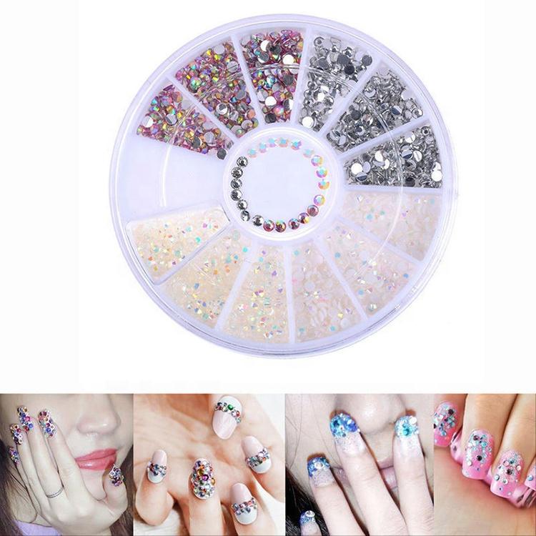 Bling Elegante Diseño De Uñas Arte De Uñas De Diamantes De Imitación De Piedra De Cristal Para Uñas Buy Diamantes De Imitación Para Uñaspiedra De